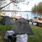 Teltat valmiina ensimmäistä yötä varten Heinänokassa