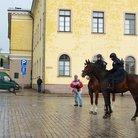 Ratsupoliisi kulki paraatijoukkojen edellä
